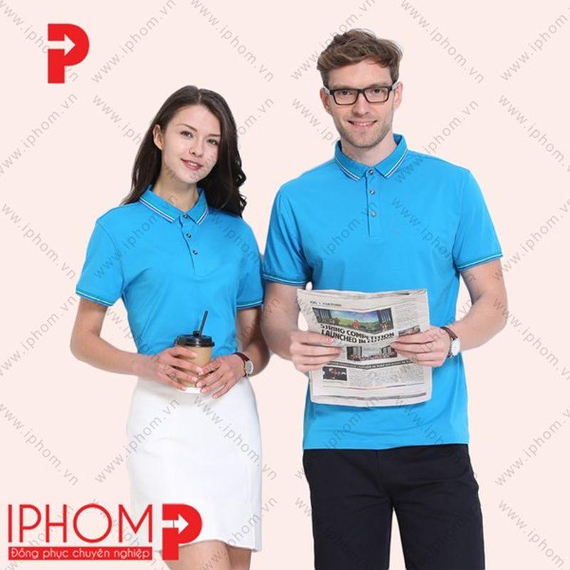 áo thun đồng phục màu xanh da trời