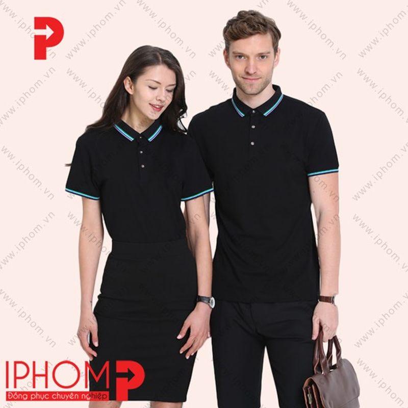 áo thun đồng phục màu đen