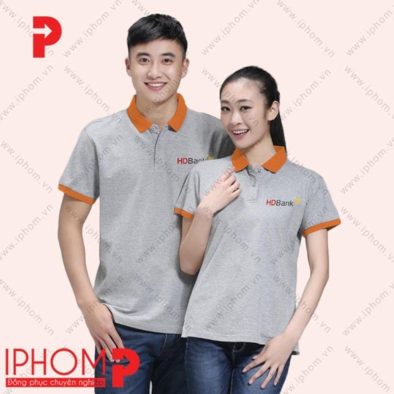 áo phông đồng phục màu ghi