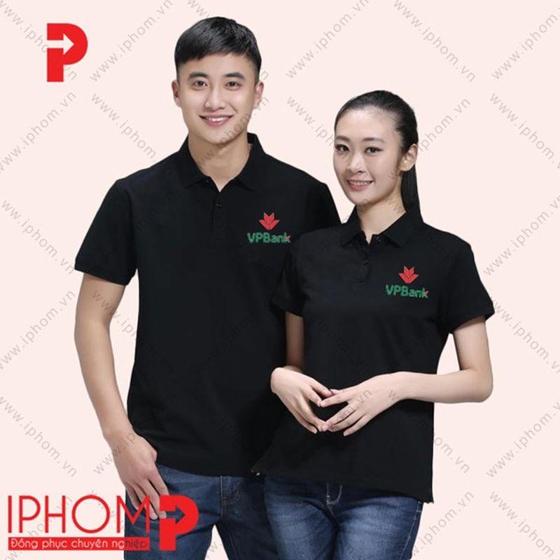 áo phông đồng phục màu đen