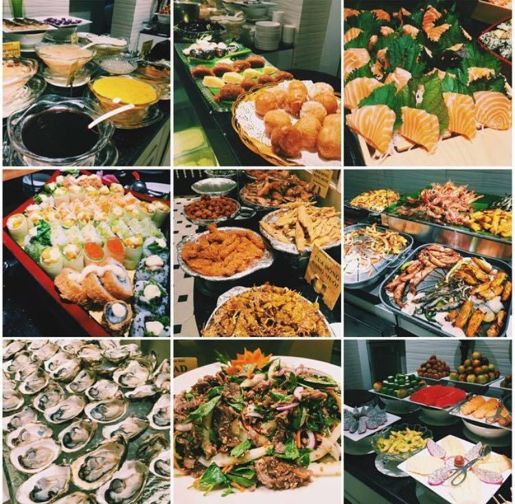 Buffet Sen Tây Hồ với nhiều món hải sản thơm ngon