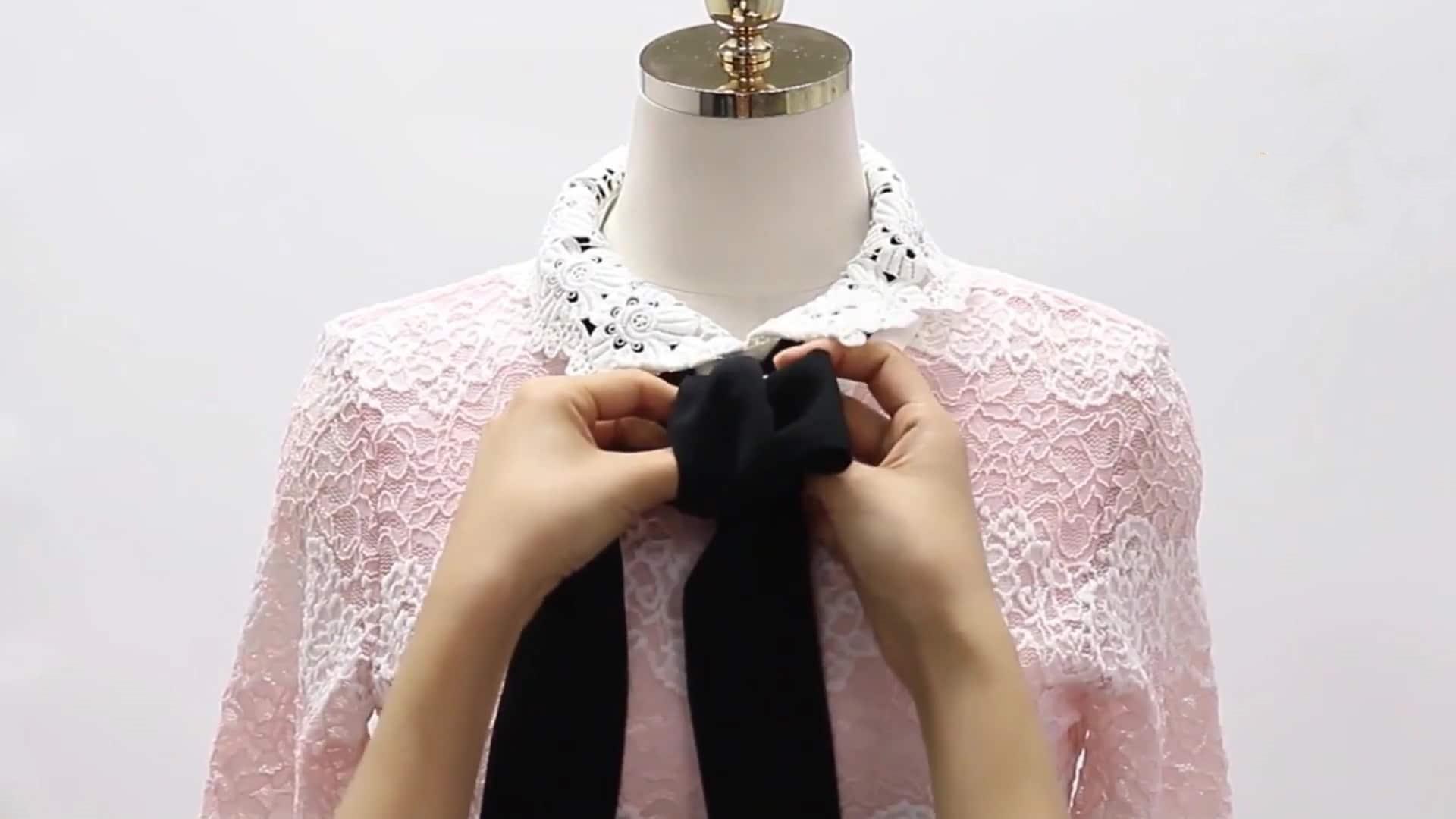 Cách thắt nơ áo sơ mi đồng phục công sở nữ