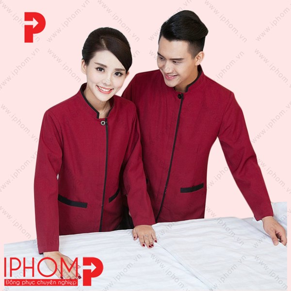 Các mẫu đồng phục cho nhân viên buồng phòng của Iphom được nhiều khách sạn đánh giá cao