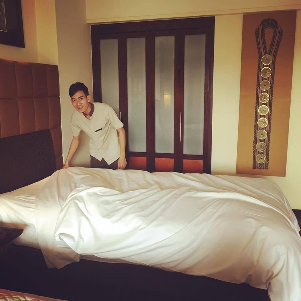 Đồng phục buồng phòng của khách sạn Intercontinental Ha Noi