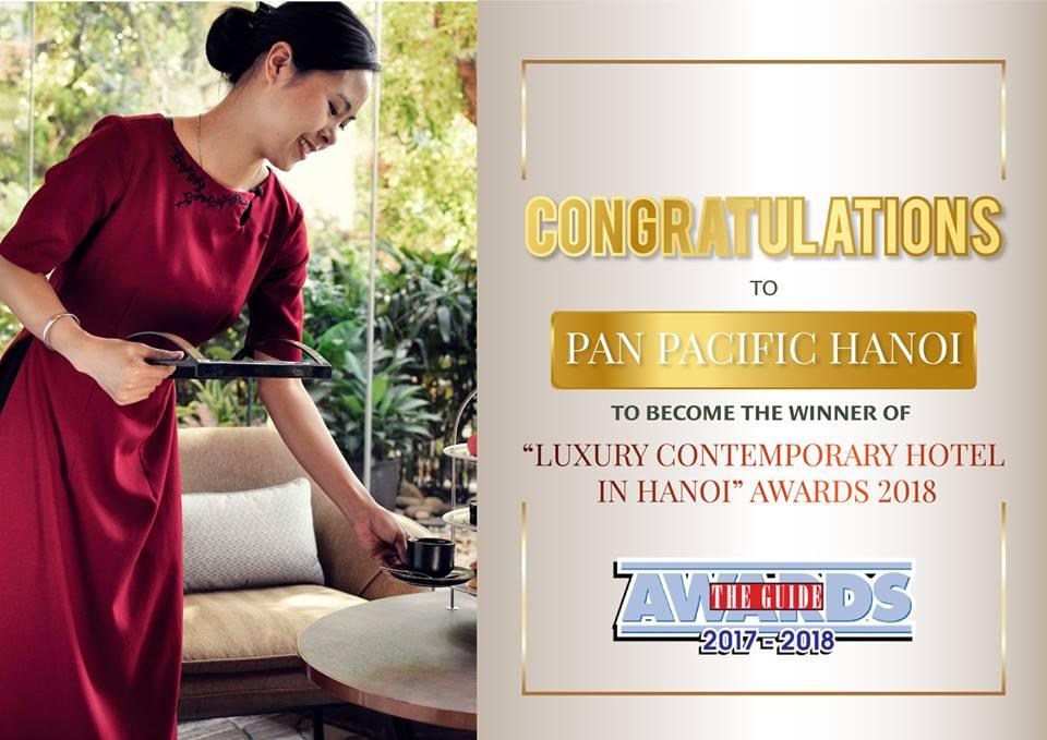 Đồng phục phục vụ của khách sạn Pan Pacific Hà Nội