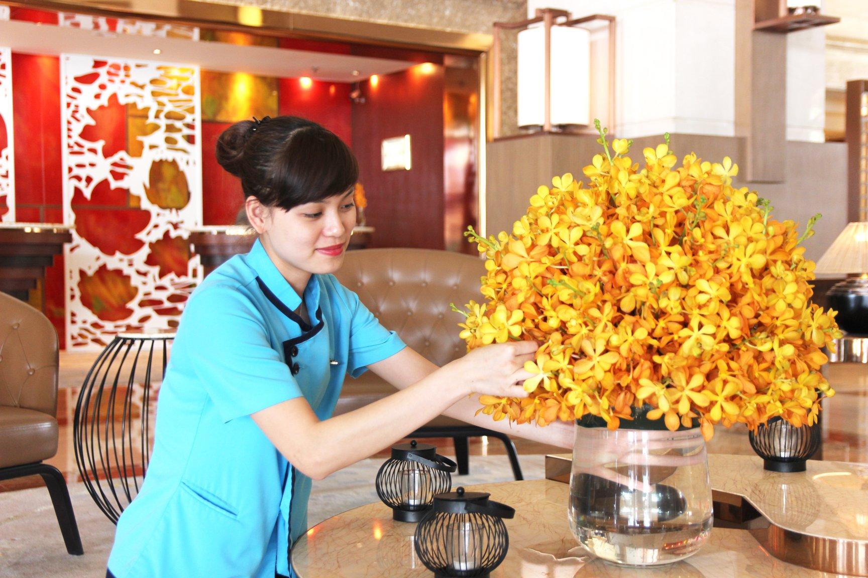 Đồng phục buồng phòng của khách sạn Pan Pacific Hà Nội