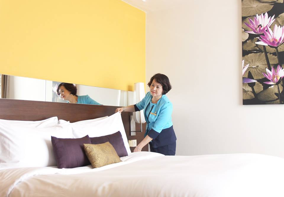 Đồng phục của quản lý tại khách sạn Pan Pacific Hà Nội
