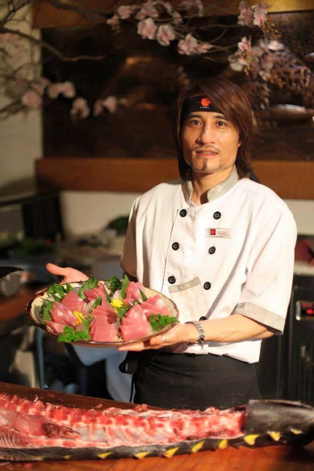 Đồng phục của đầu bếp tại nhà hàng Shinbashi