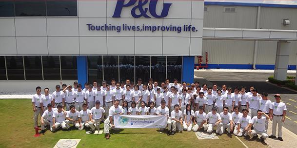 Áo thun đồng phục P&G đơn giản nhưng ý nghĩa