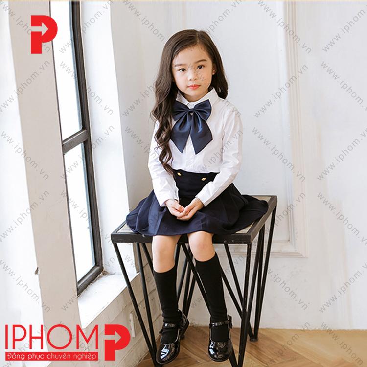dong-phuc-hoc-sinh-cap-1-ao-trang-ha-noi-re