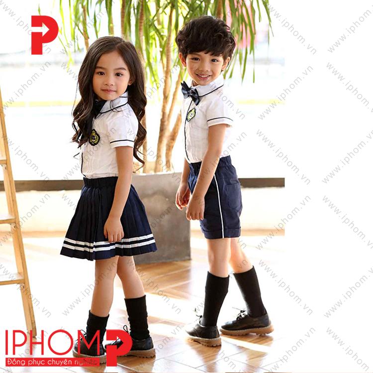 mau-dong-phuc-hoc-sinh-cap-1-ao-so-mi-trang-ha-noi
