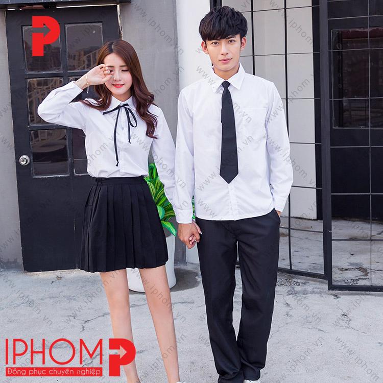 dong-phuc-hoc-sinh-cap-3-chan-vay-xep-ly-mau-den