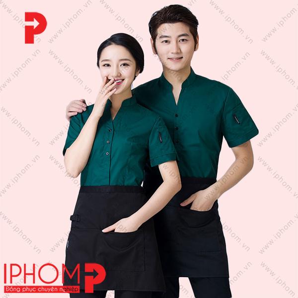 ao-dong-phuc-phuc-vu-nha-hang-mau-xanh-co-vit-dep