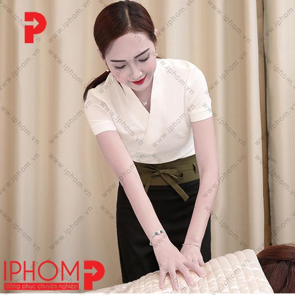 mau-dong-phuc-spa-quan-ao-kimono-mau-kem