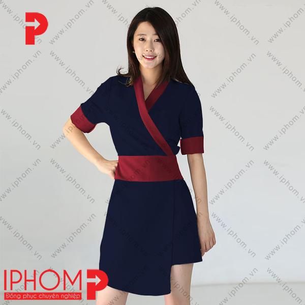 mau-dong-phuc-spa-quan-ao-kimono-mau-xanh-tim-than-dep