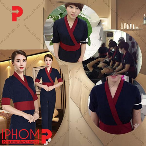 mau-dong-phuc-spa-quan-ao-kimono-mau-xanh-tim-than