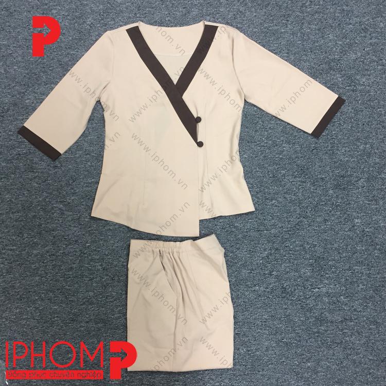 may-dong-phuc-spa-kieu-kimono-mau-kem-nau-dep